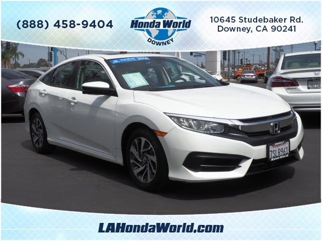 Certified Pre-Owned 2016 Honda Civic EX EX 4dr Sedan in Downey ...