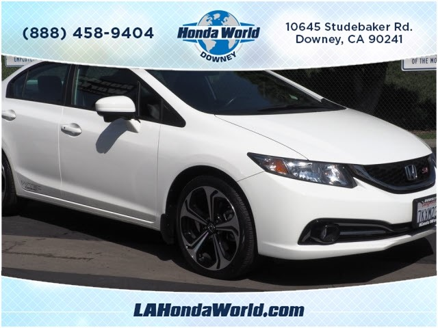 Certified Pre-Owned 2015 Honda Civic Si Si 4dr Sedan in Downey ...