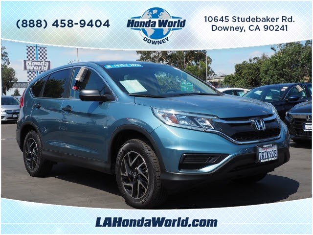 Certified Pre-Owned 2016 Honda CR-V SE SE 4dr SUV in Downey #381573